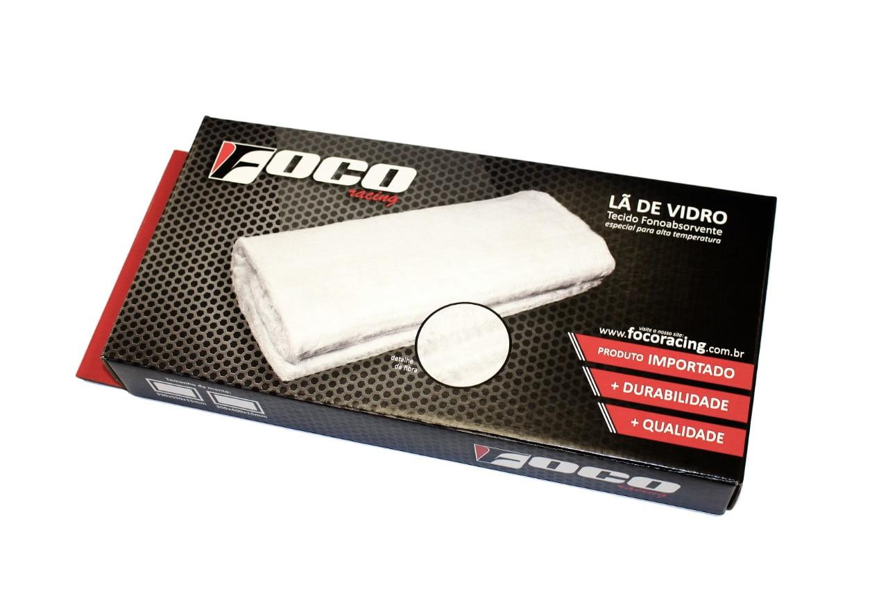 LÃ DE VIDRO 25X40X1,5 CM PARA ESCAPAMENTO FOCO RACING
