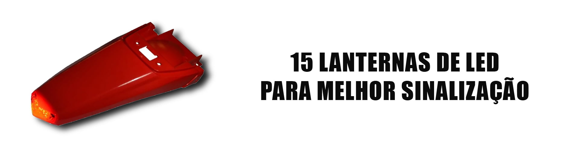 PARALAMA TRASEIRO CIRCUIT COM LED