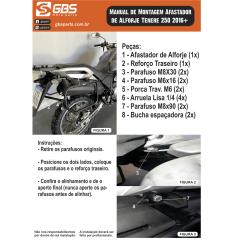 AFASTADOR DE ALFORGE PARA TENERE 250 de 2016 a 2018 PRETO GBS